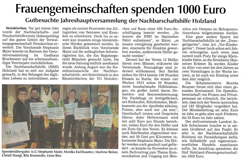 2015_03_10-Zeitungsartikel_Spende_Frauengemeinschaft